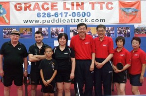 Mikhail, Bernard, Andrew, Club Owner and Coach Grace Lin, Jack, Shu, Yude, Sally