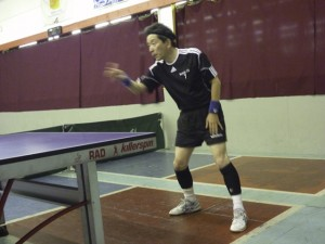 Ryousuke Adachi -- it looks like he doesn't even need a paddle to win
