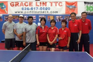 Ken, Michael, Sasanka, Club Owner and Coach Grace Lin, Yude, Sally, Shu, Jack
