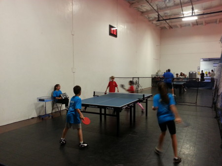 Doubles action: Lana & Rene vs Sarayu & Jack