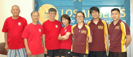 Left to Right: Steven Noh, Fred Liao, Warren Hoo, Midori, Gloria Deng, Franz Zhao, Tae Kim