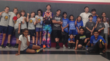 Teams from Le Lycee (West LA) and Glendale compete in friendly at Ararat Table Tennis Center.