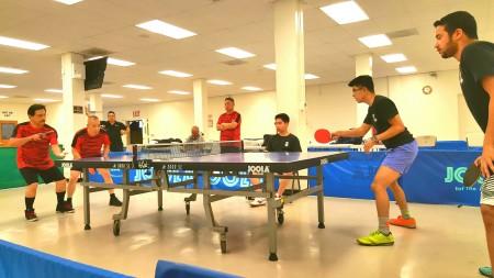 Luis Rodriguez, Patrick Tham (ENERGIZERS) vs Ronald Villar, Megbil Almejaibel (PING PONG PIRATES)