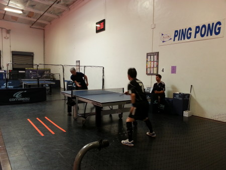 Matt and Adachi compete in the fourth match